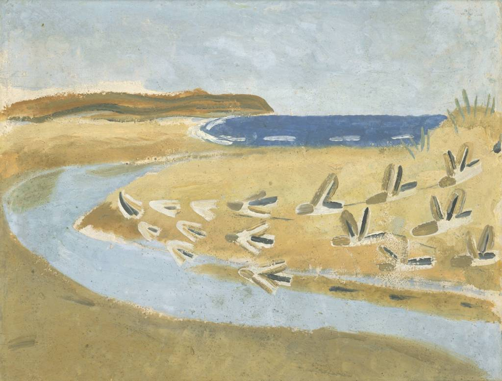 Sandpipers, Alnmouth 1933 by Winifred Nicholson 1893-1981